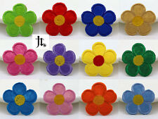 12pcs Flower Embroidered Iron on Patch Motif Appliqué Embroidery Kids Gifts