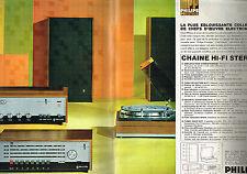 PUBLICITE ADVERTISING 025  1967  PHILIPS   chaine hi-fi stéréo ( 2p)
