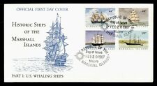 DR WHO 1987 MARSHALL ISLANDS HISTORIC SHIPS BLOCK FDC C190392