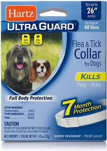 """Hartz UltraGuard Flea & Tick Collar for Dogs & Puppies 26"""", 7 Month Protection"""