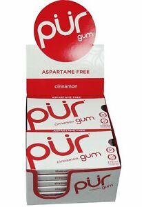 PUR Gum Cinnamon Blister 9 Pieces (Pack of 12) - Aspartame Free
