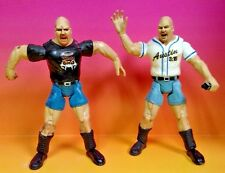 2 Stone Cold Steve Austin Baseball Jersey WWF WWE Figures Wrestling 1999 Jakks