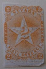 US Stamp State Revenue Nevada State Tax 2 Cents Used Machine Cancel