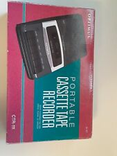 Optimus Portable Cassette Tape Recorder Player CTR-111 RadioShack