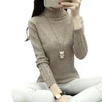 Women Sweater Cardigan S W Long Pullover Sleeve Turtleneck Fit Winter Sweatshirt