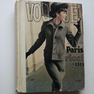 60s vintage Vogue Pattern retail catalogue s/s 1964 Paris Original fashion Dior