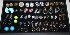 Lot of 30 Clip & Screw Back Gold/Silver Tone Earrings Coro Napier Judy Lee