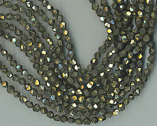 """16"""" STRAND STUNNING 6MM FACETED PYRITE NUGGET BEADS"""