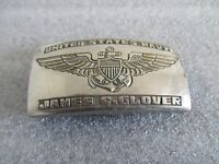 "WWII UNITED STATES NAVY ""TRENCH ART"" STEEL BELT BUCKLE"
