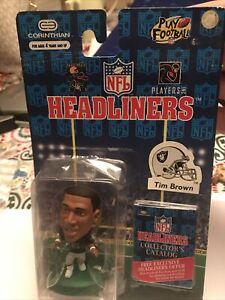 Vintage 1996 Corinthian Headliners Tim Brown Oakland Raiders NFL Action Figure