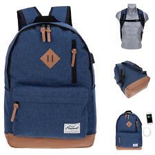 Rucksack USB Elephant Freizeitrucksack Schulrucksack backpack 12689 Twotone Blau