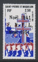 St Pierre & Miquelon - 1991, Christmas stamp - MNH - SG 675