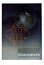 Telefunken Radio Pionier XL Reklame 1943 !!! Werbung Forschung