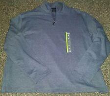 ! NWT MSRP $49 Mens JOHN BARTLETT Zip Front Long Sleeve Shirt Blue 2XL XXL