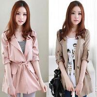 Korean Women Jacket Loose Outwear Long Sleeve Buttons Casual Autumn Coat Outw Kw