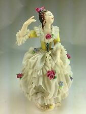 "German MZ  ""The Dancer "" Porcelain Lace Figurine"