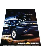 2003 Chevrolet Avalanche Truck  Original Vintage Advertisement Print Car Ad J428