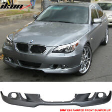 04-07 BMW E60 5-Series Front Bumper Lip AC Style Paint Silver Gray Metallic #A08