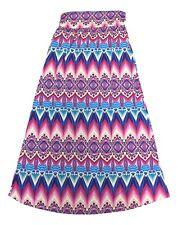 Jon and Anna Size Large Pink Multi Geometric Tribal Print Long Maxi Skirt