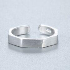 Simple 925 Silver Ring Geometric Vintage Rings For Women Men Bijoux Jewelry Gift