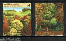 1988//SERIE/TIMBRES//SURVIE DES FORETS-NATIONS UNIES(VIENNE)**STAMP Y/T.81/82