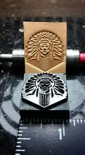Native American / Indian Chief  Leather Embossing Stamp