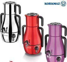 Korkmaz A337 Demfora elektrischer Teekocher 3,9 lt Lila-Rot-Schwarz-Satin