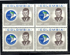 COLOMBIA #C455    1963  J.F.K  MINT  VF NH  O.G BLOCK OF 4