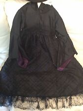 Pottery Barn Kids Witch Halloween Costume sz 7-8 Dress Hat NWT! Black Purple