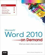 Microsoft Word 2010 On Demand-ExLibrary
