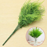 7 Branches Artificial Asparagus Fern Grass Plant Flower Home Floral Decor MR