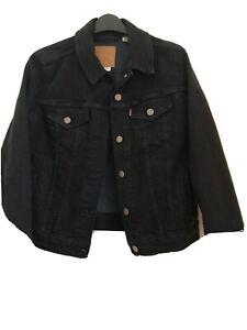 Levis Black Denim Jacket Size M