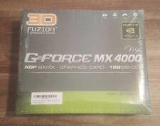3d FUZION Nvida GeForce MX4000 AGP8X/4x 128MB DDR Graphics Card - Factory Sealed