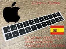 Pegatina Teclado APPLE MACBOOK AIR y PRO Español única ALINEADA 132mm x 132mm