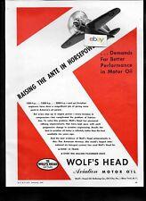 WOLF'S HEAD OIL CO OIL CITY PA 1942 RAISING THE ANTE IN HORSEPOWER MOTOR OIL AD