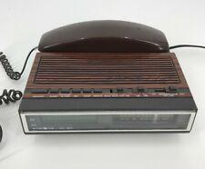 Record O Fone Vtg Model Crx 9000A Am/Fm Electronic Clock Radio w/ Phone