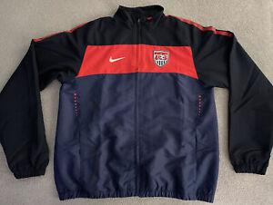 USA SOCCER NIKE USMNT WORLD CUP 2010 TRACK SUIT JACKET MENS LARGE