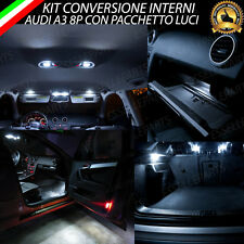 KIT LED INTERNI AUDI A3 8P KIT COMPLETO PER MODELLI CON PACCHETTO LUCI 6000K