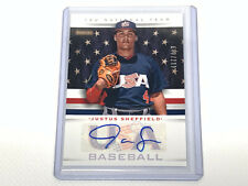 2013 Panini USA Baseball Autograph Justus Sheffield SP 437/499 baseball card