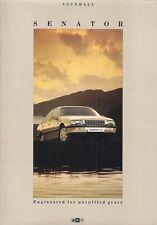 Vauxhall Senator 1987-88 UK Market Sales Brochure 2.5i 3.0i CD