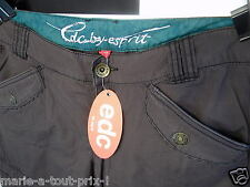 EDC ESPRIT PANTALON TOILE MARRON CHOCOLAT CARGO FR 44 UK 16 US 13 D 42 I 46 NEUF