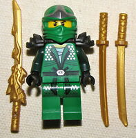 LEGO LLOYD ZX NINJAGO GREEN NINJA MINIFIG MINIFIGURE NEW WITH GOLD DRAGON SWORD