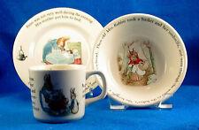 Wedgwood: 3-piece Peter Rabbit Child's Set English ISW
