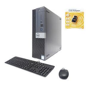 Dell 7060 SFF 6-Core i7-8700 3.20/4.6GHz 32GB 512GB NVMe SSD 2TB GeForce 730 2GB