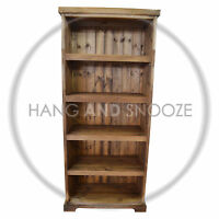 HAND MADE BALTIC BOOKCASE SOLID PINE MEDIUM OAK (ASSEMBLED)