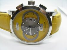 Paul Picot Men's Firshire Technograph PP 0334 Yellow Dial Chrono Automatic Watch