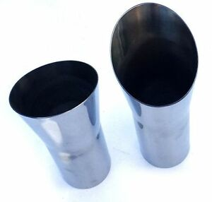 1968-1972 442 Cutlass Highly Polished Stainless Steel Exhaust Tips Trumpets-Pair