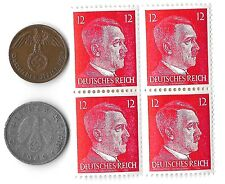 Rare Old Vintage WW2 WWII Nazi German War Eagle Coin Hitler Stamp Collection Lot