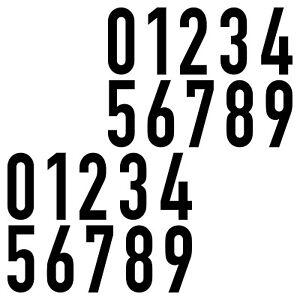 20 Aufkleber 7cm schwarz DIN 1451 Ziffern Zahlen Nr Hausnummer Verkehrsschrift
