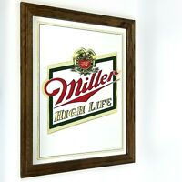 Miller High Life Mirror Sign Beer Advertising 22 x 18 Large Man Cave Decor